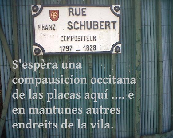 vila de Tolosa Franz espèra sa placa