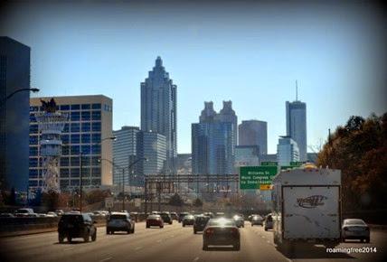 Driving through Atlanta