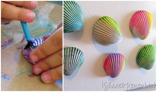 Painted Seashell Magnets 3