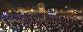 Roma piazza San Giovanni 22 febbraio 2013