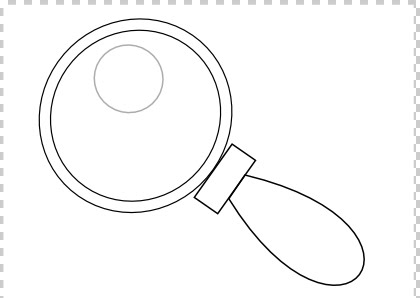 MAGNIFYING GLASS COLORING PAGES Lupa2520bn