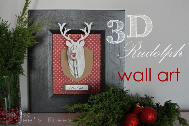 rudolph wall art