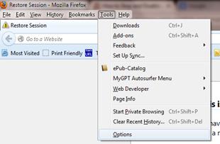 ยกเลิกการอัพเดทแบบอัตโนมัติให้ Firefox