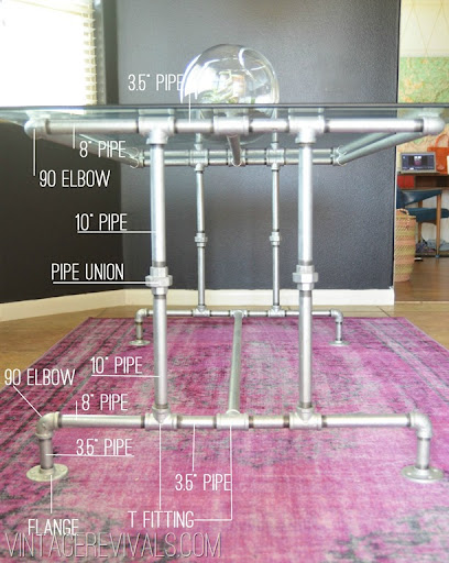 electrical conduit table legs 2