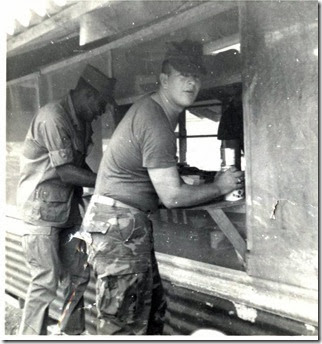 Russ Ford at Cook Shack at 1st Bn-13th Mar