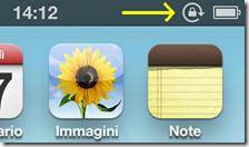 Icona dell'orientamento verticale bloccato dell' iPhone e iPod touch