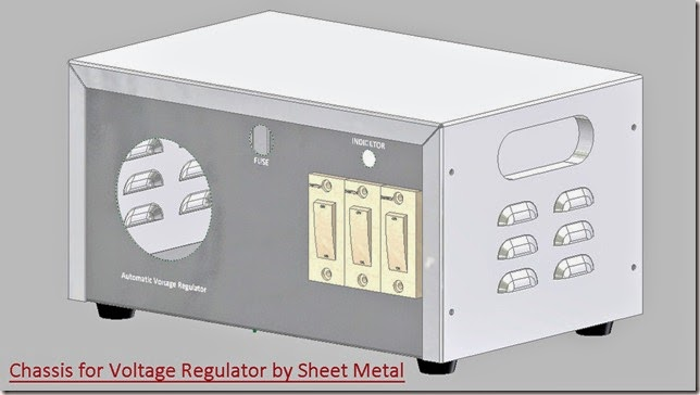 Chassis for Automatic Voltage Regulator by Sheet Metal _1