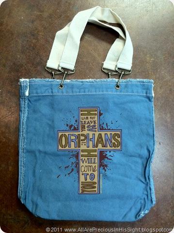 orphan bag blue