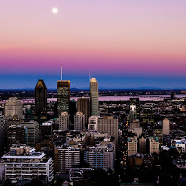 Montreal at sunset by Umar Junaid - City,  Street & Park  Skylines ( montreal, skyline, sunset, colored sky )