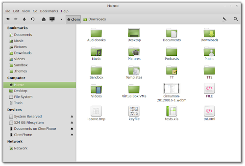 Nemo su Linux Mint 14