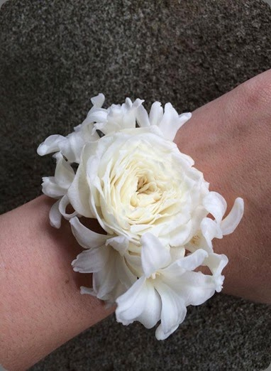 wrist corsage sophisticated floral 1461847_683850118346908_5623138926174359067_n