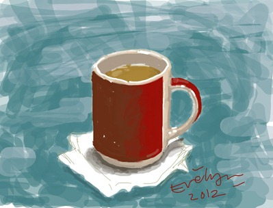 Red Mug by Evelyn