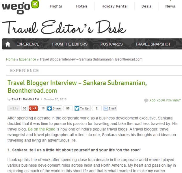 My interview on Wego India