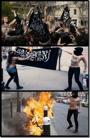JIHAD SESAT TANPA BAJU AHLI FEMEN DI DEPAN MASJID! (1)