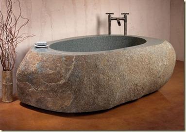 Diseño de Baños Rústicos de Piedra2