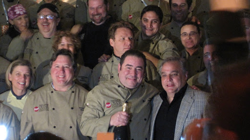 Chef Emeril kicked off the party with Festival founder Lee Schrager.