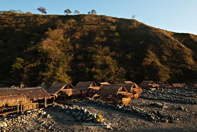 Nipa Huts Along Dupinga River in Gabaldon