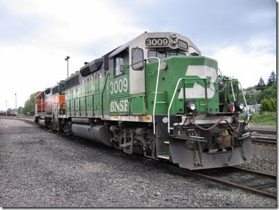 IMG_6356 BNSF GP40M #3009 at Centralia on May 12, 2007