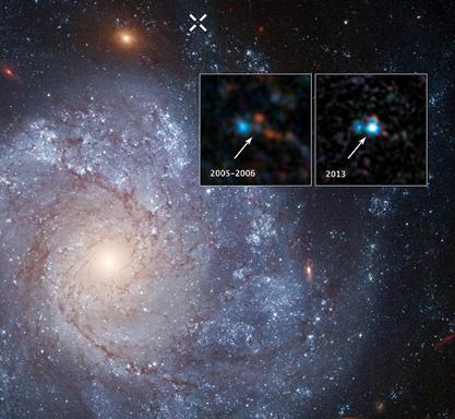 supernova SN 2012Z na galáxia espiral NGC 1309
