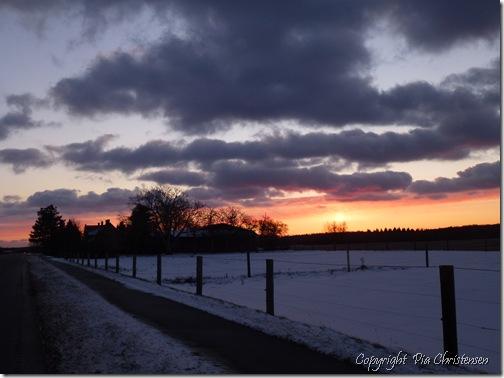 Solnedgang 6.12.2012