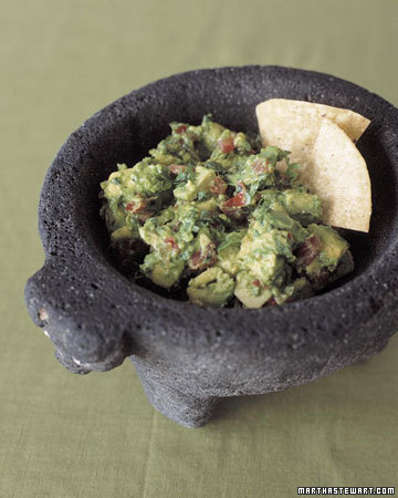 Fresh guacamole is essential for any Cinco de Mayo party. (marthastewart.com)