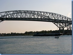 3680 Ontario Sarnia - Blue Water Bridge over St Clair River - Spartan tugboat pushing a barge