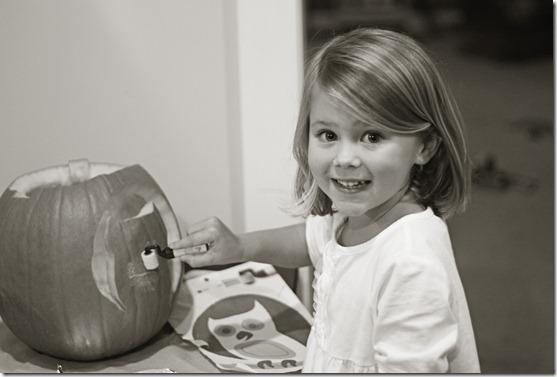 Hannah BW pumpkin 1