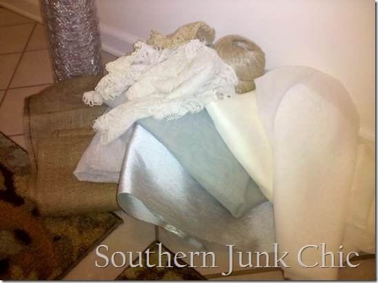 Southern Junk Chic Dress form materials 2