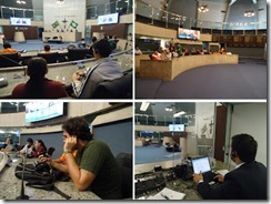 quatro fotos do Plenário 13 de Maio da Assembléia Legislativa do Ceará