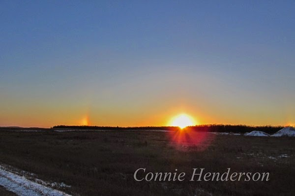 Sundogs at Sunset Jan 9 2015