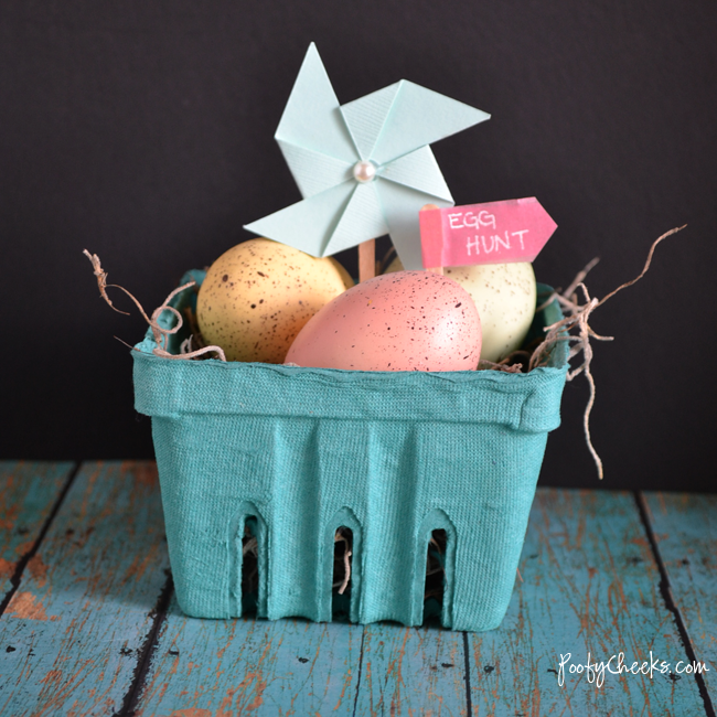 Mini Easter Basket Decoration - Made in under 5 minutes!