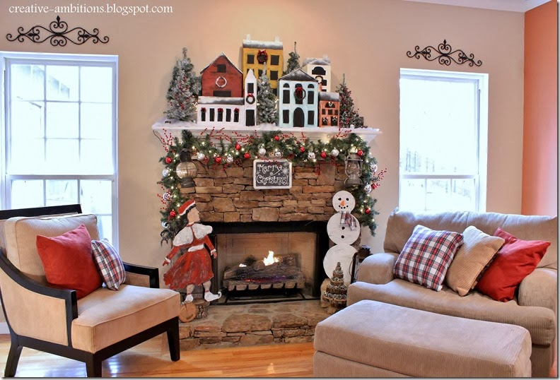 Creative Ambition's Christmas Mantel 2013