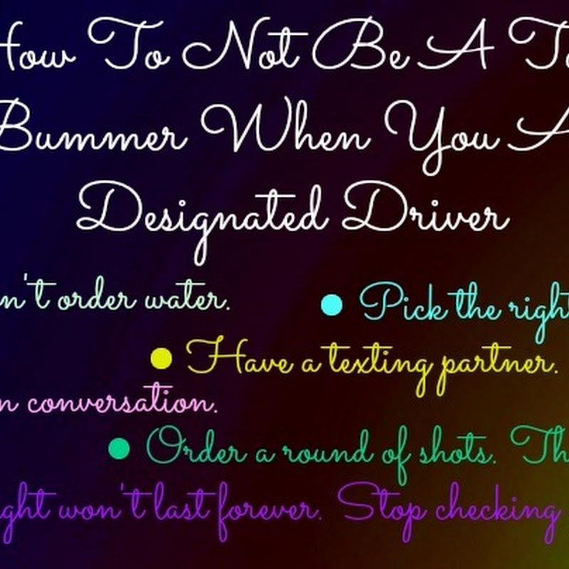 How To Not Be A Total Bummer When You Are…
