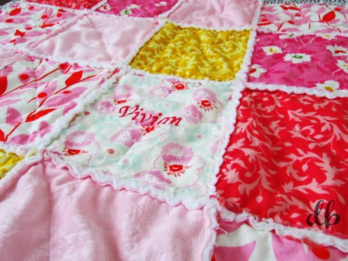 Modern Rag Quilt Handmade by Daydream Believers