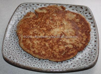 Banana Oatmeal Flax Breakfast Skillet Cake - served