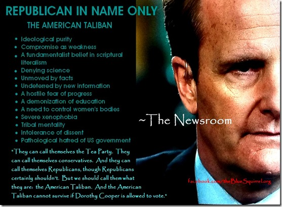 Newsroom demonization of GOP, T Party & Conservatives