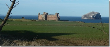tantallon castle and the bass