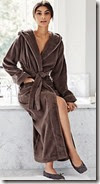 White Company Luxury Hooded Velour Robe