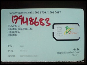 SIM MOBILE Bhutan (1)