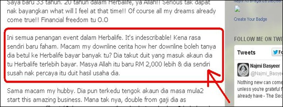 herbalife income  2