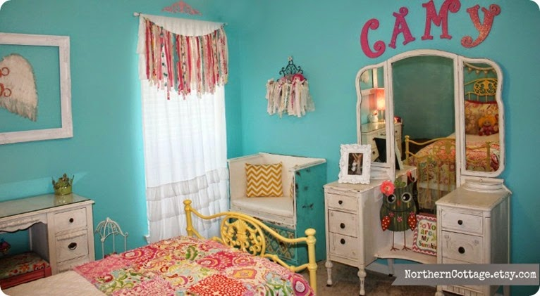 {Northern Cottage} PeRFeCT Pretty Girls Room