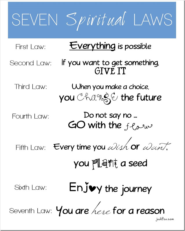 Seven Spiritual Laws for Parents Summary - Deepack Chopra - Free Fridge Printable