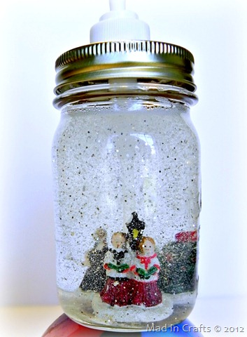 snow globe soap carolers