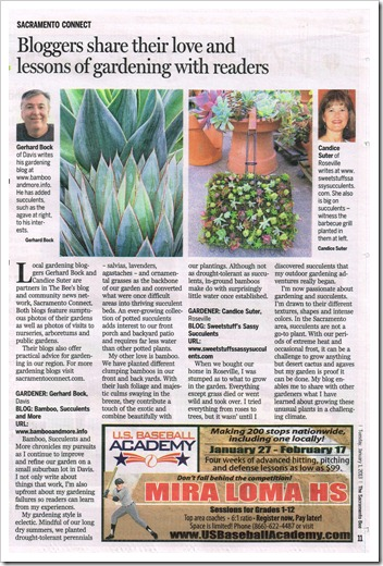 Yours truly featured in Sacramento Bee 2013 Gardening Guide