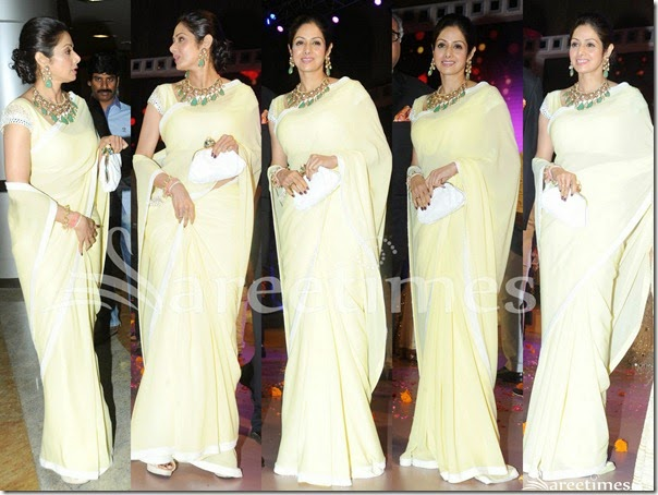 Sridevi_Light_Yellow_Saree