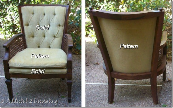 cane chair fabric option