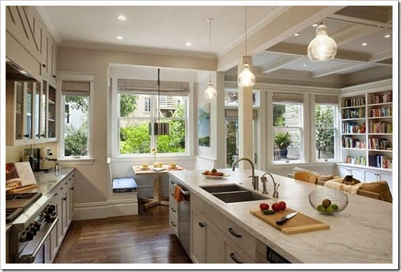 awesome-breakfast-nook-in-contemporary-white-kitchen-decor