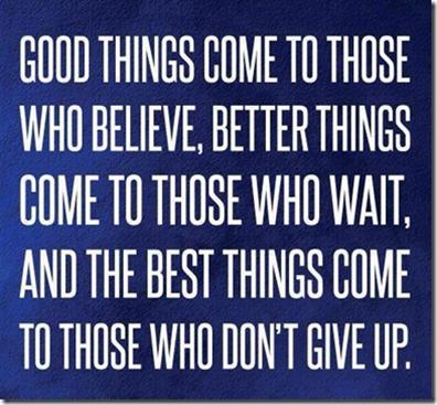 2013 Week 2: Good Things Comin'