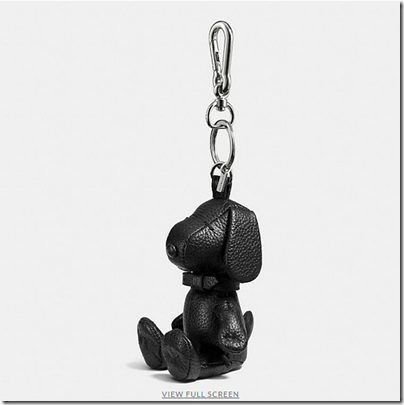 COACH X Peanuts leather key ring - USD 95 - silver black