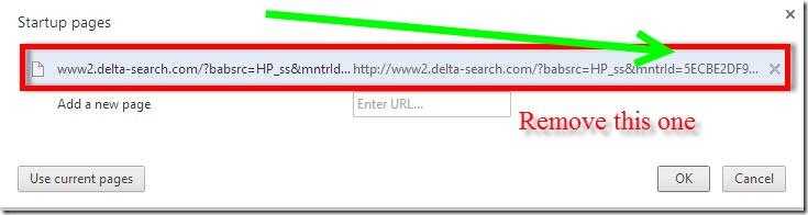 remove delta search on chrome